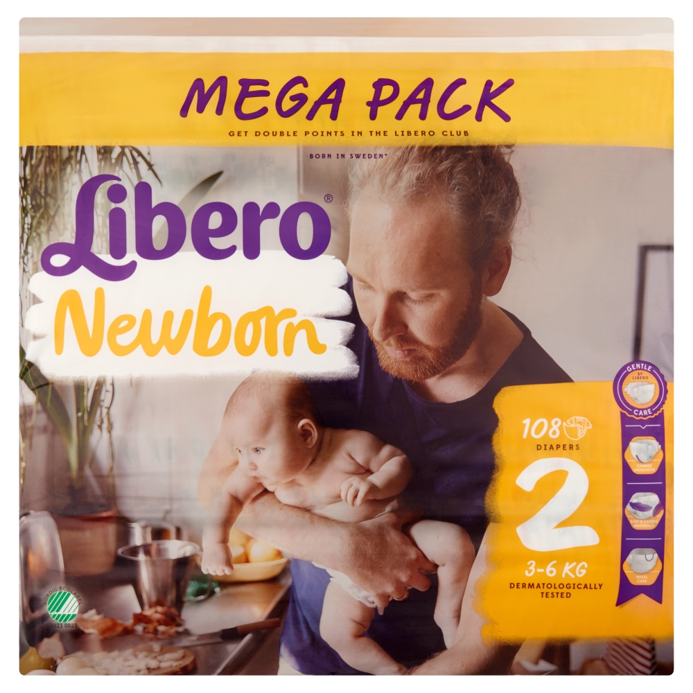 Libero Newborn Mini Mega Pack(2) 108 db pelenka